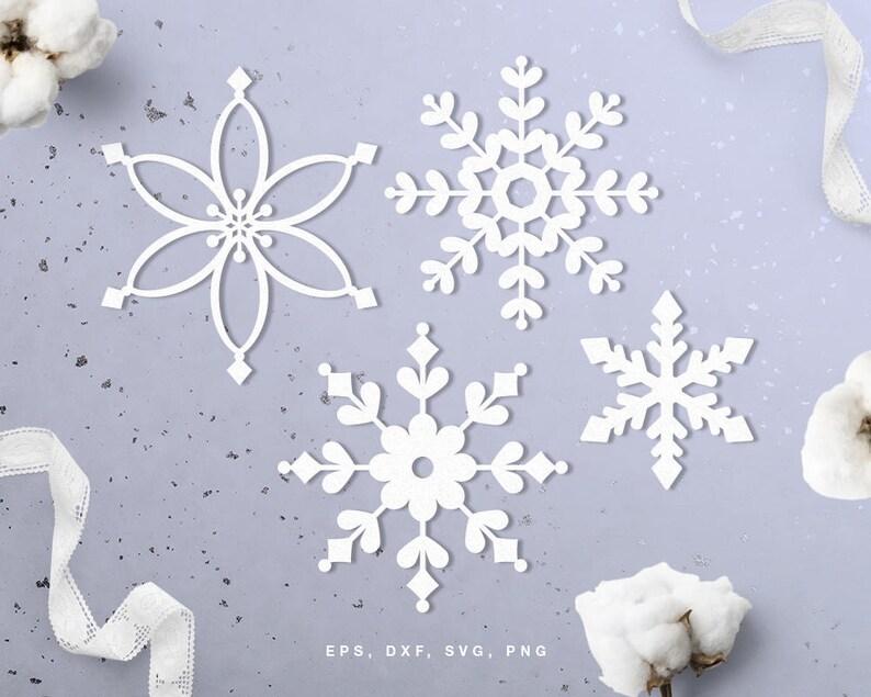 Progetti Per Silhouette Cameo : Fiocco di neve di tagliare file svg dxf png eps per la etsy