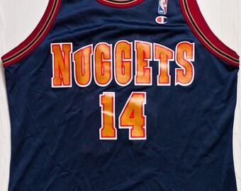 14d014db Robert Pack Denver Nuggets NBA Champion basketball jersey very rare vintage