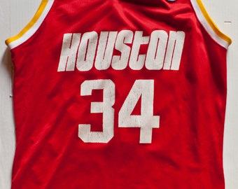 22b85a0c4117 Hakeem Olajuwon Houston Rockets NBA Champion basketball jersey vintage rare
