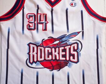 c465fdf3879 Hakeem Olajuwon Houston Rockets NBA Champion basketball jersey vintage rare