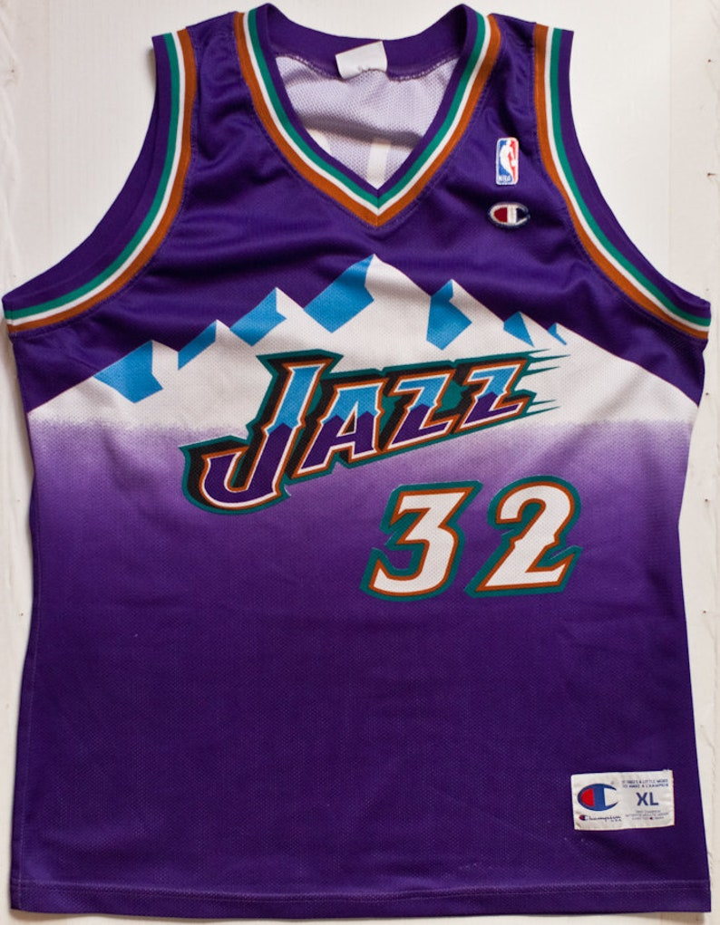 cheap for discount 18f13 78c01 Karl Malone Utah Jazz NBA Champion basketball jersey rare vintage