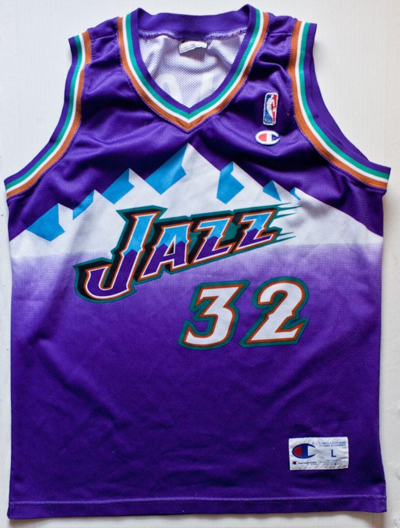 255797bcc Karl Malone Utah Jazz NBA Champion basketball jersey rare