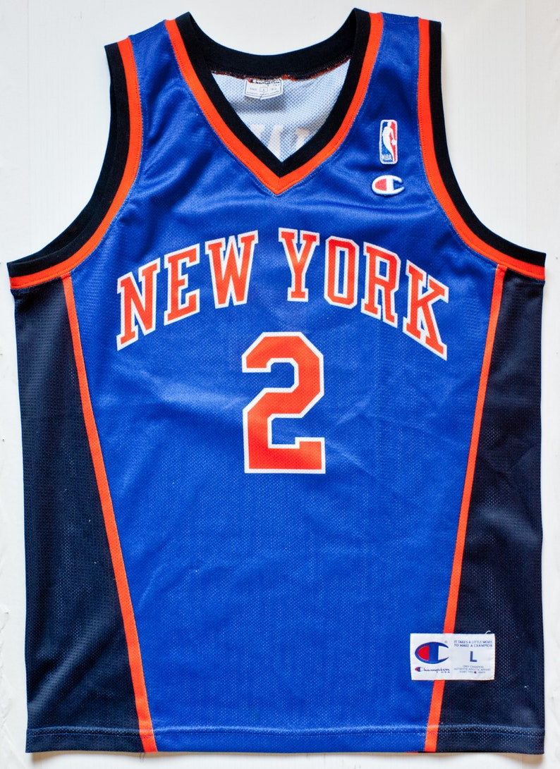 d4e7a70068f Larry Johnson New York Knicks NBA Champion basketball jersey