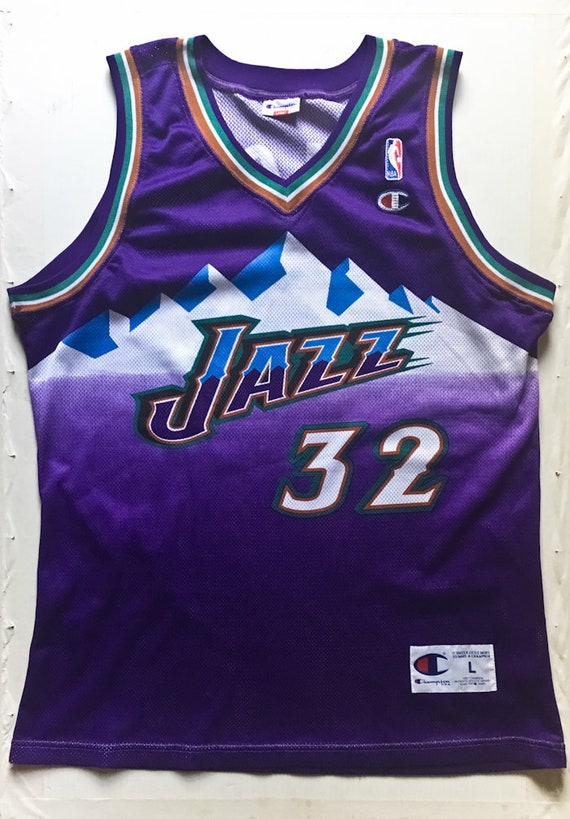 Karl Malone Utah Jazz NBA Champion basketball jers
