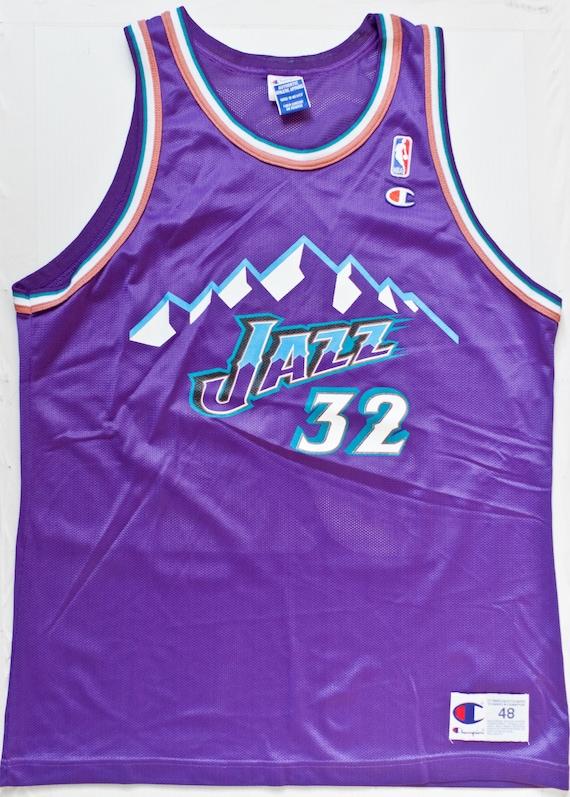 online retailer 99ebb f061e Karl Malone Utah Jazz NBA Champion basketball jersey vintage rare