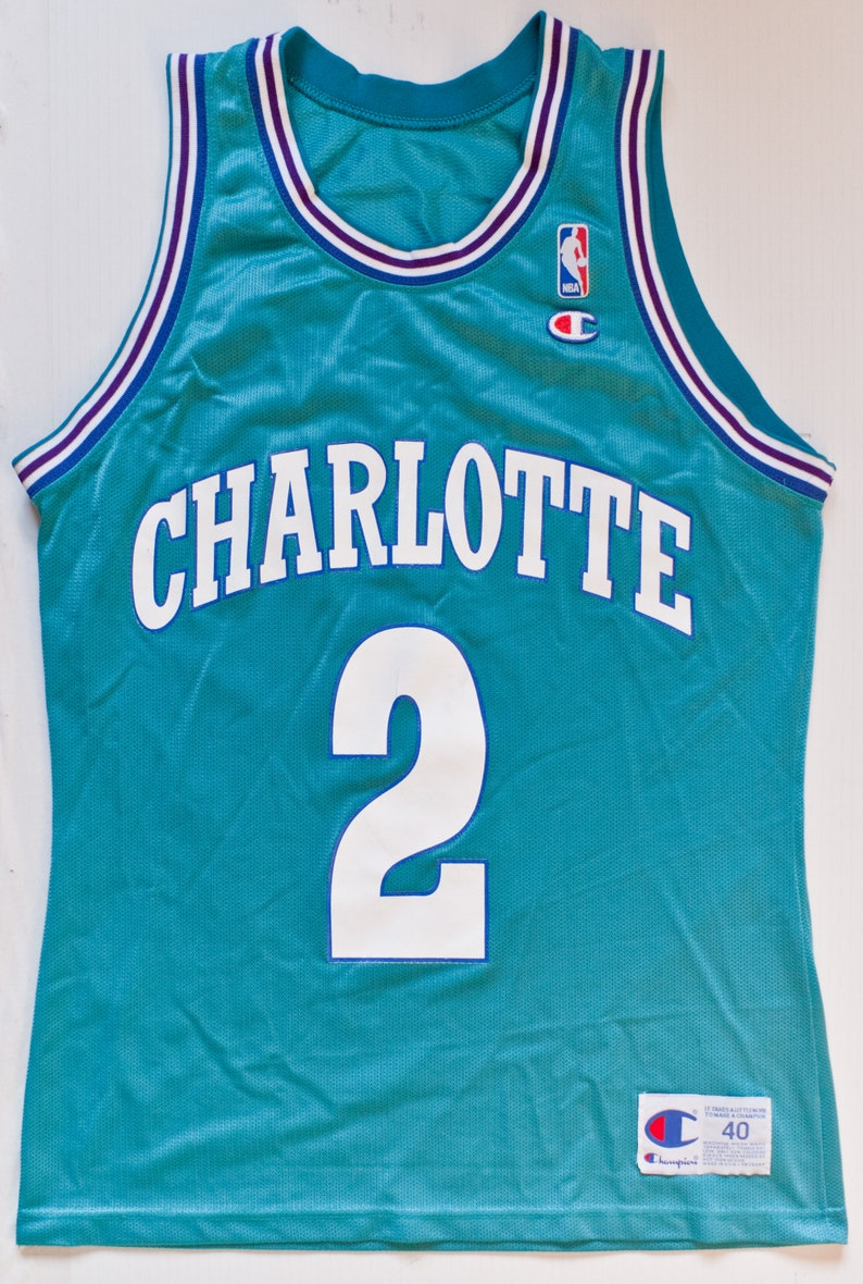 Larry Johnson Charlotte Hornets NBA Champion basketball jersey  850c635da