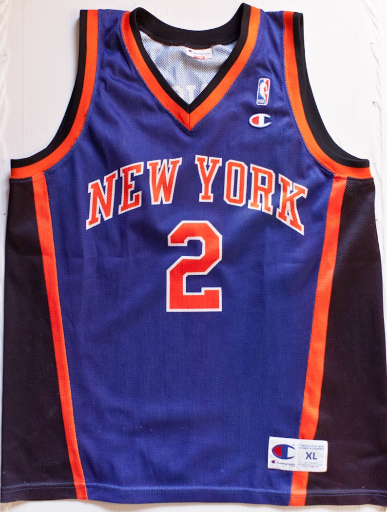 new product de14d 70d5c Larry Johnson New York Knicks NBA Champion basketball jersey vintage rare