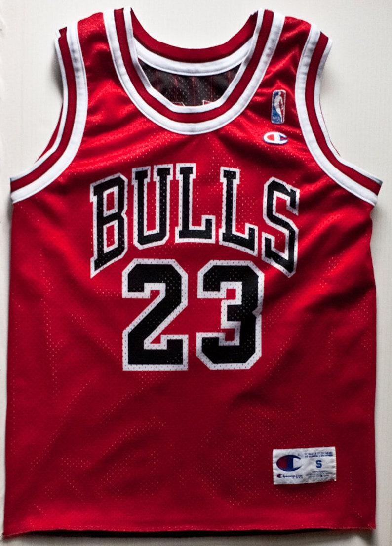 super popular 4a438 c3638 Michael Jordan Chicago Bulls NBA Champion basketball jersey double-face  pinstripe rare vintage
