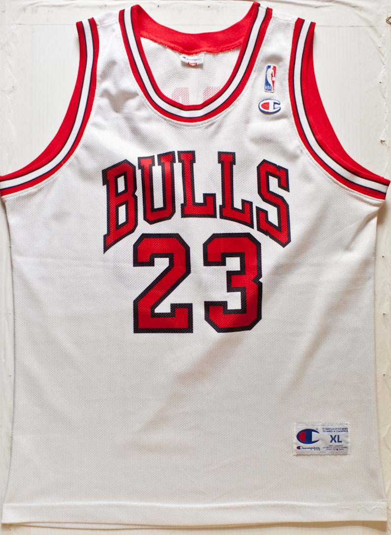 more photos 191f4 78610 Michael Jordan Chicago Bulls NBA Champion basketball jersey vintage