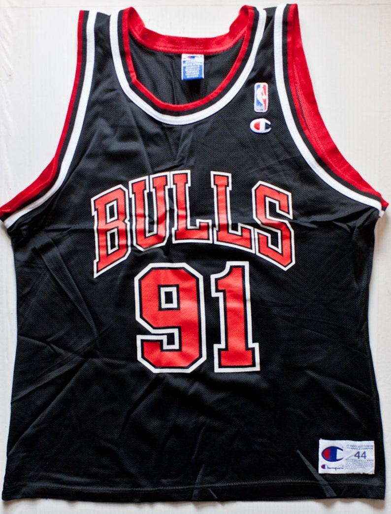 info for dd952 1ce41 Dennis Rodman Chicago Bulls NBA Champion basketball jersey alternate vintage