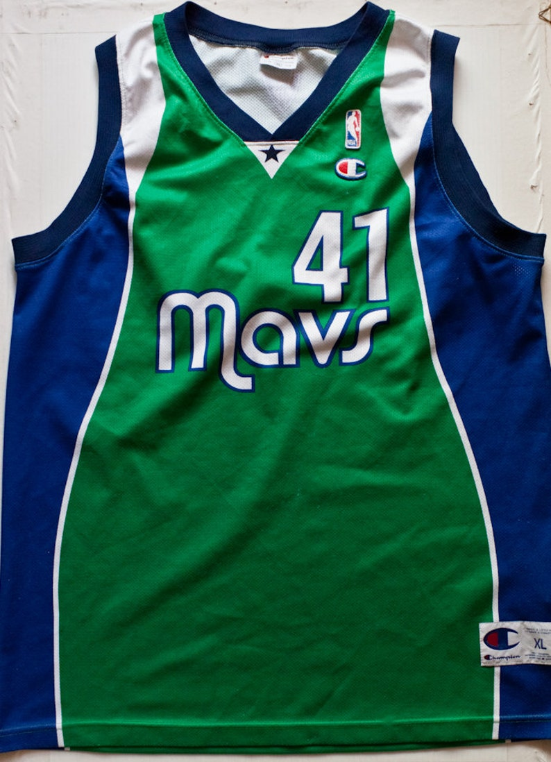 hot sale online 59a6e 2800d Dirk Nowitzki Dallas Mavericks NBA Champion basketball jersey vintage rare  alternate