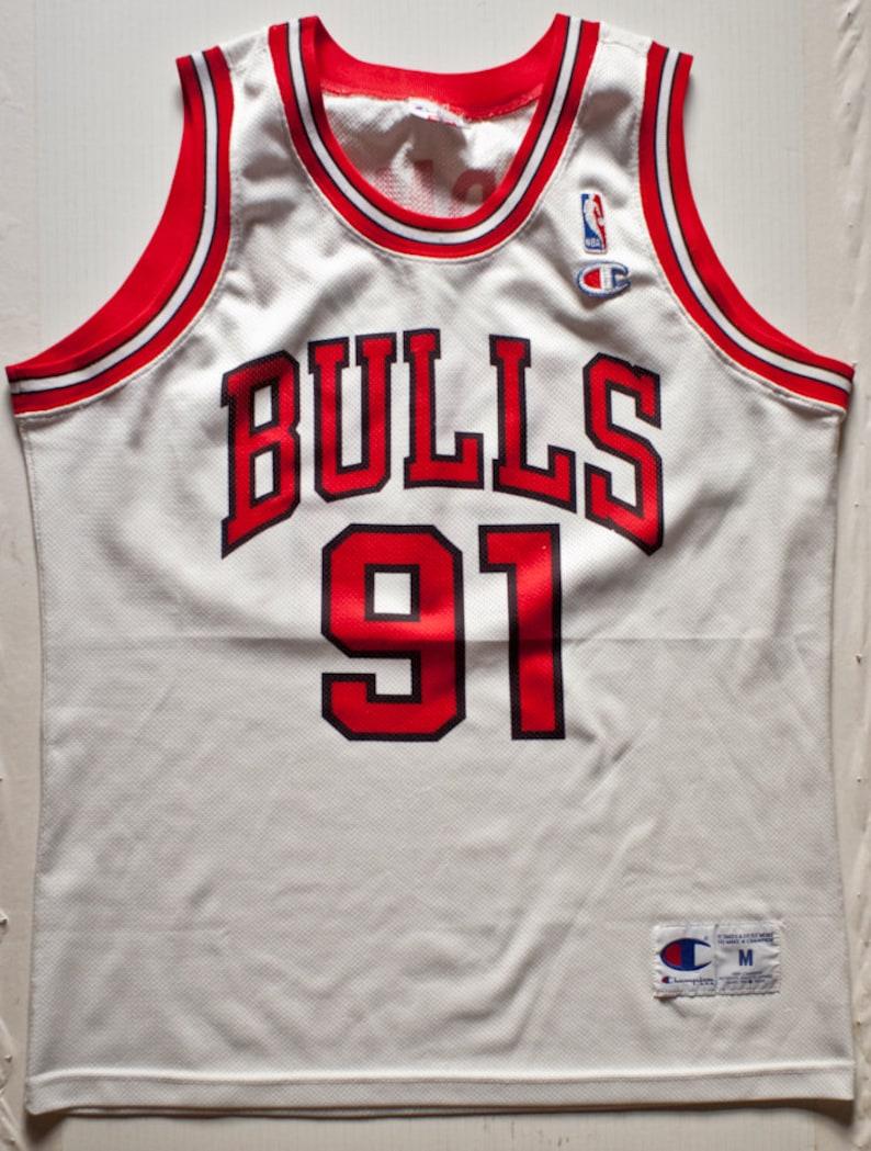 huge selection of 7a9d8 94255 Dennis Rodman Chicago Bulls NBA Champion basketball jersey rare vintage