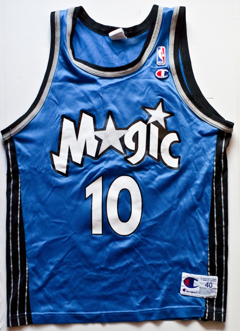 best sneakers b57ca c5e48 Darrell Armstrong Orlando Magic NBA Champion basketball jersey vintage rare