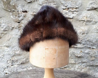 61786ace1a4 60s fur hat. Charlotte New York. Pixie style winter accessory