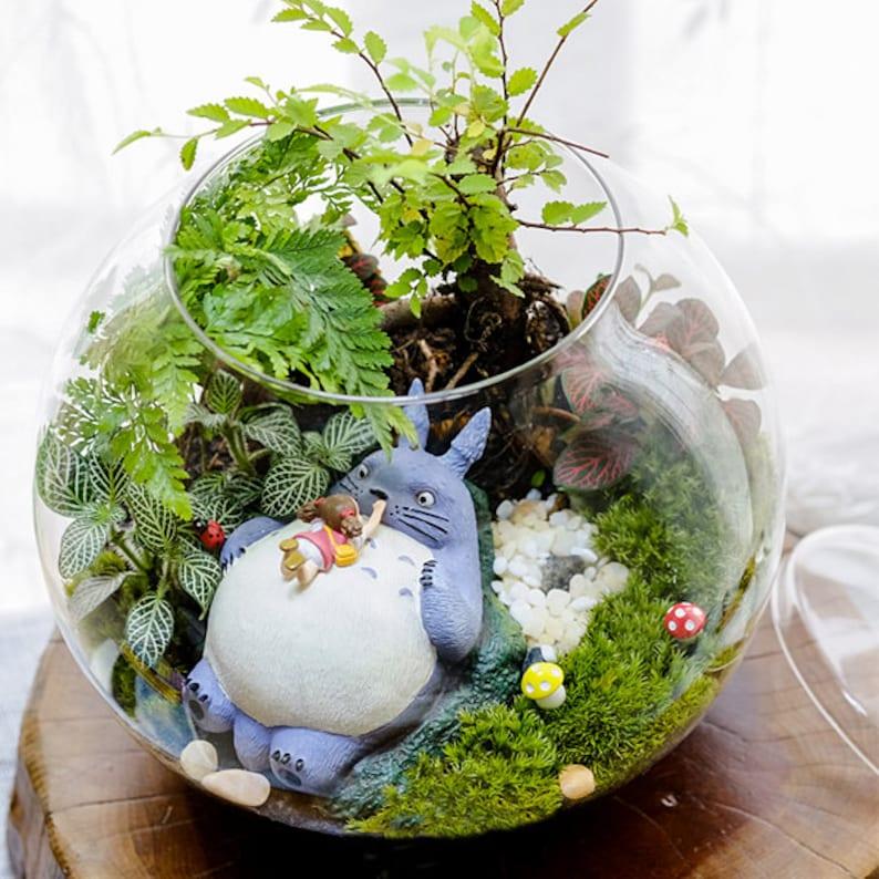 A Set 4 Totoro Terrarium Material Accessories Ghibli Studio Etsy