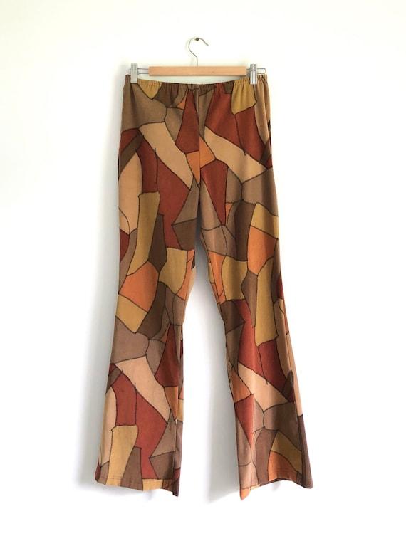 Vintage Brown Patchwork Pants