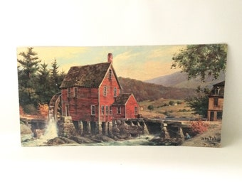 """Vintage """"Rustic Mill"""" Litho Art by Westal"""