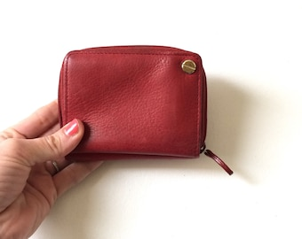 Red Leather Rolfs Wallet