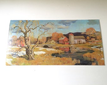 "Vintage ""Last Snow"" Litho Art by Cherepou"