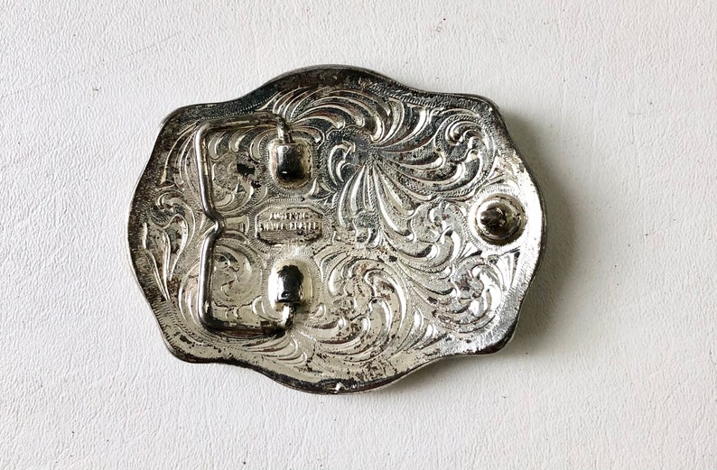 Vintage Silver and Gold Horse Belt Buckle