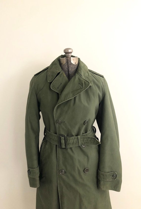Vintage US Army Green Field Overcoat / Army Green
