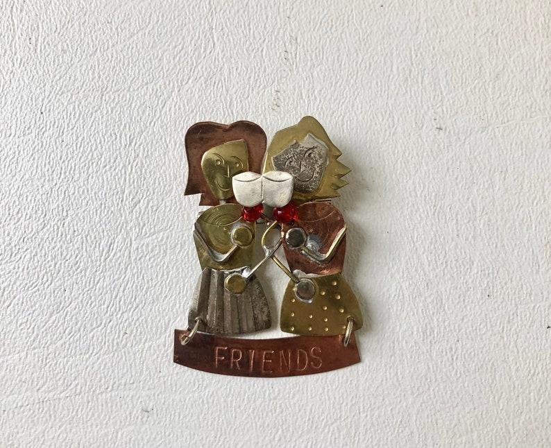 Vintage Friends Pin Friends Brooch
