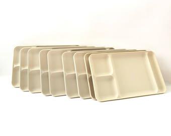 Vintage Cream Tupperware Trays / Set of 10