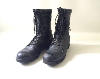 Men's Black Leather R.O. Search Combat Boots