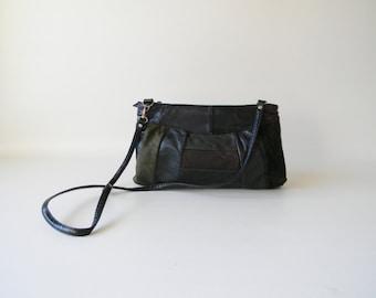 Dark Patchwork Leather Purse