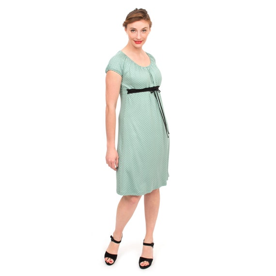 4364cef9d2e Empire style maternity nursing dress for breastfeeding moms