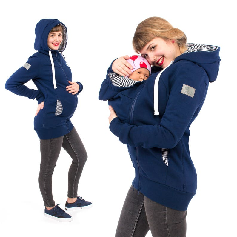 c9a257e39536 3in1 baby carrier sweater and maternity coat with hoodie in