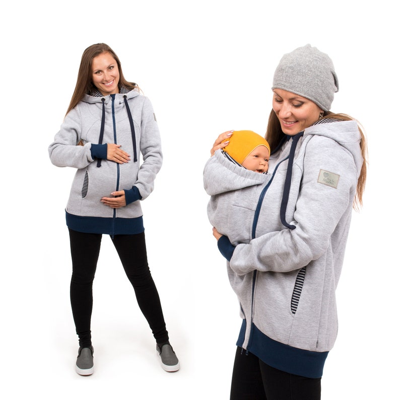 3b8e5d939fd81 3in1 baby wearing hoodie and maternity jacket from Viva la