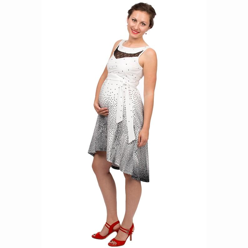 c81cefc6296c0 Festive maternity nursing dress with lace in black white | Etsy