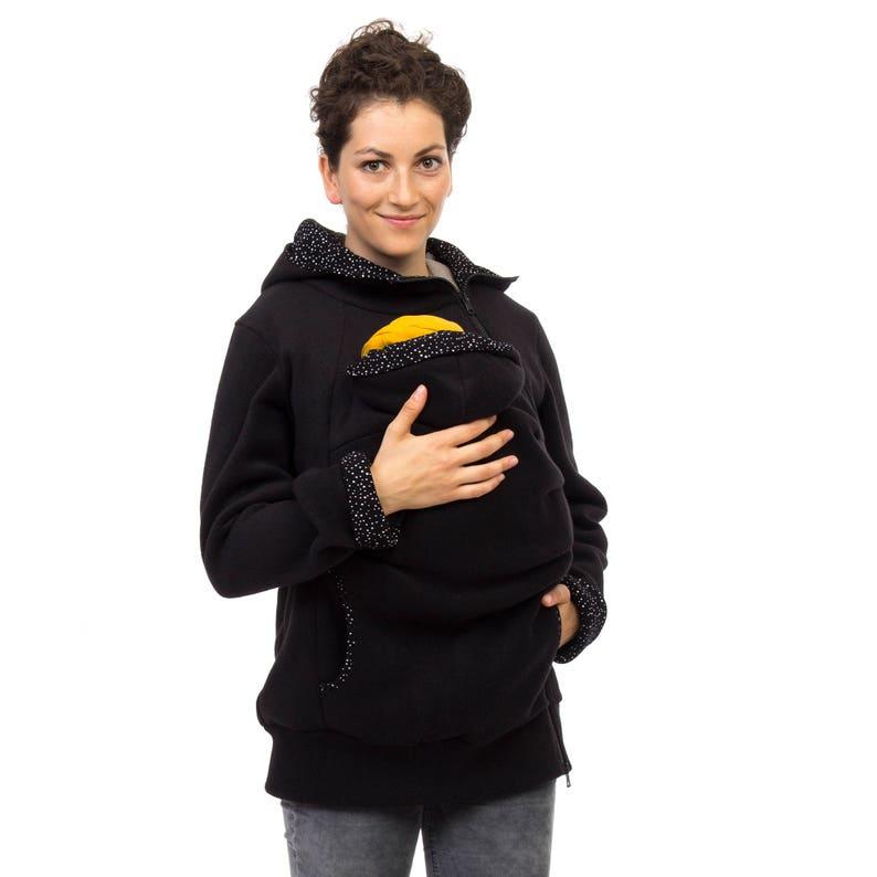 dc215ea64c82b Kangaroo hoodie for mom and baby babywearing jacket fleece | Etsy