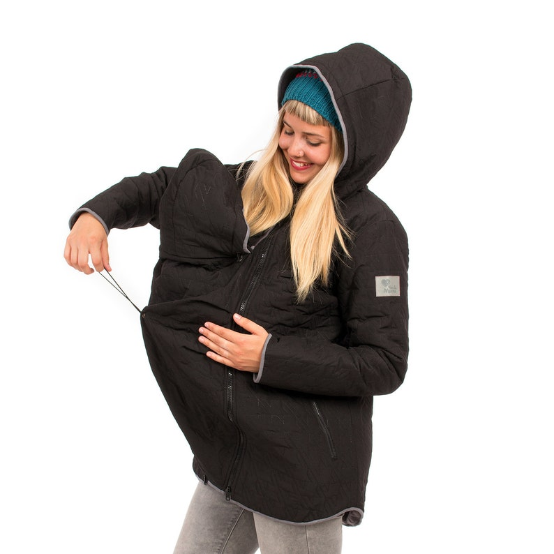 1c58119db56e4 Babywearing jacket winter warm quilted 3 in 1 maternity coat