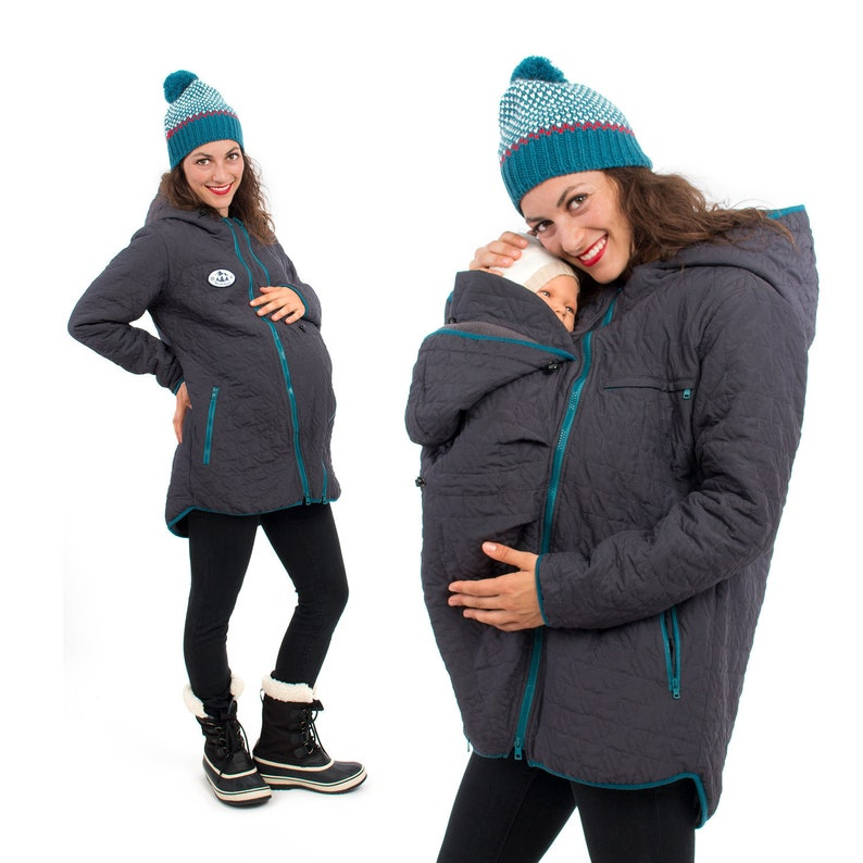 a4c480dcdc2b Babywearing jacket winter warm quilted 3 in 1 maternity coat