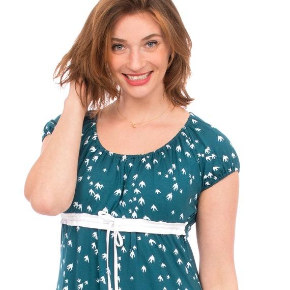 eeebc717242 Maternity summer dress for breastfeeding moms Empire style in