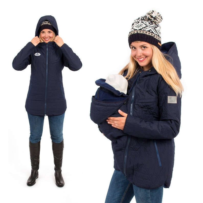 dd8ea905e0b9f Babywearing jacket winter warm maternity coat quilted 3 in 1 | Etsy