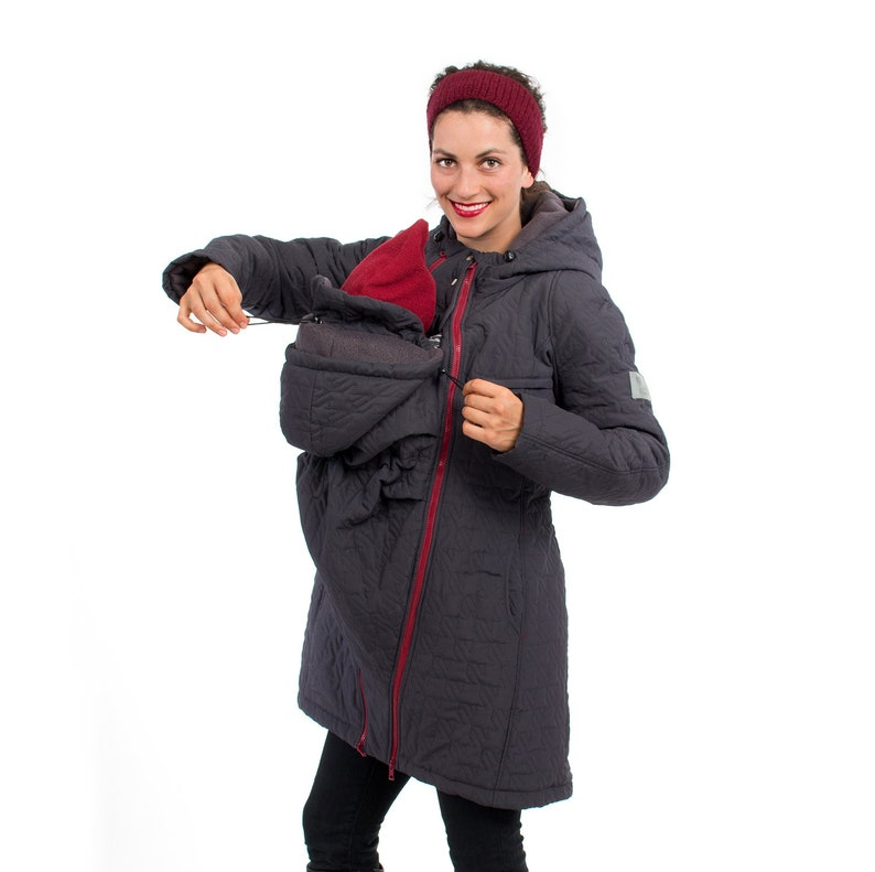 fb6fe4bfe347b Quilted coat maternity fashion warm 3 in 1 jacket with