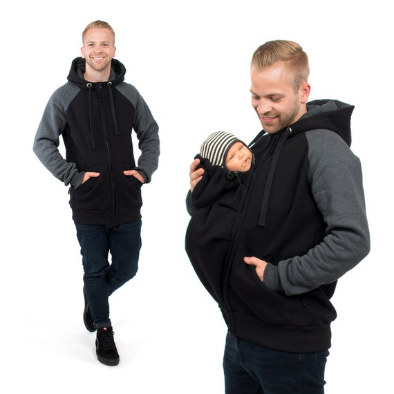 163ca5ffa77c5 Men baby carrier jacket sweatshirt hoodie for front carrying