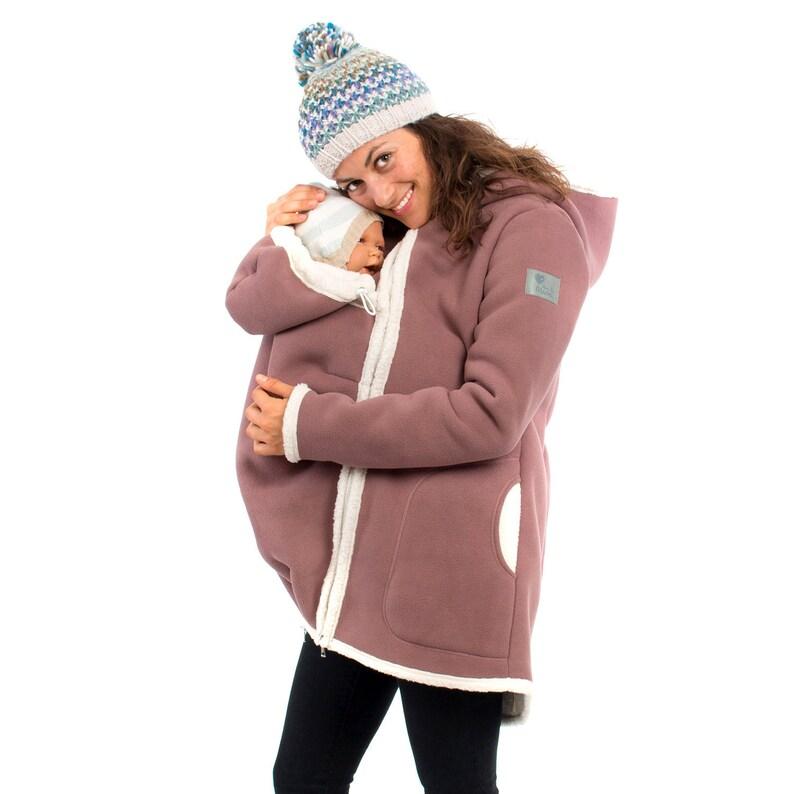 adb4180760c19 Maternity winter coat and babywearing fleece for winter in