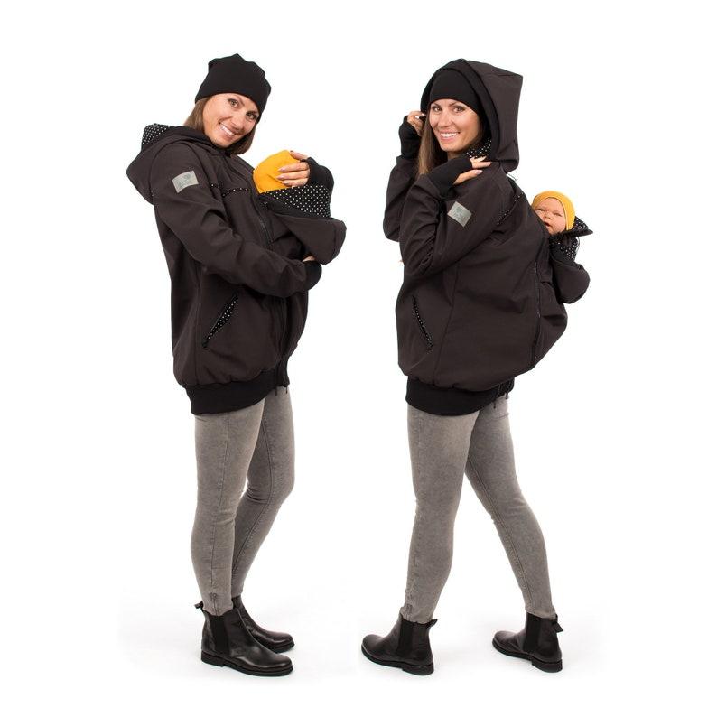 b009696a2a7a1 Back Front Softshell Babywearing Jacket Allweather Coats | Etsy