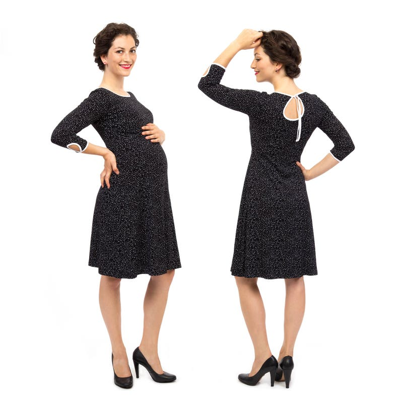 357548b41ee Black maternity dress pregnant nursing mums special occasions