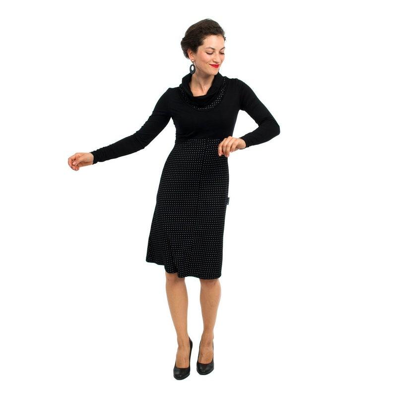 b7a54c1d1b Longsleeve maternity and nursing dress with waterfall collar