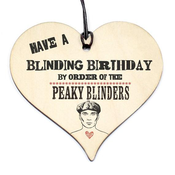 MAGNETIC BOOKMARK BIRTHDAY PEAKY BLINDERS CARD WOOD HEART CHRISTMAS