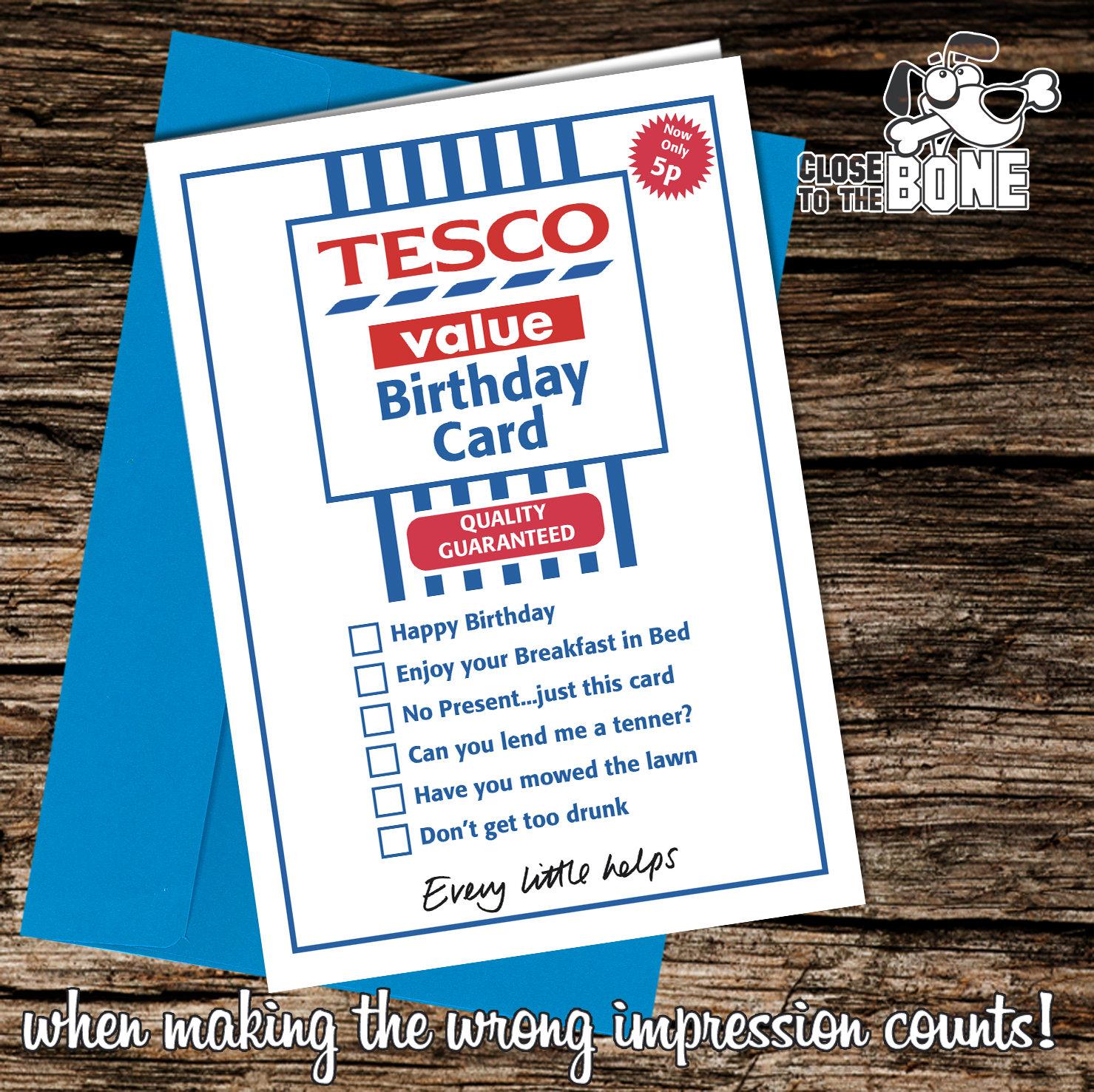 No246 Tesco Value BIRTHDAY DAY Card funny humour joke novelty