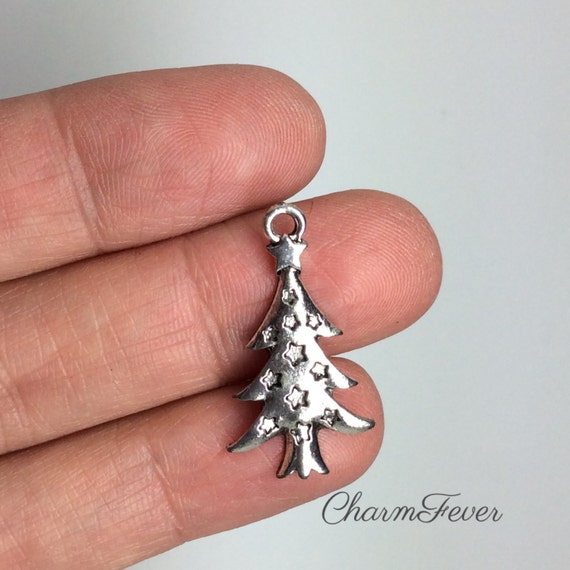 36pcs tibetan silver tone 2sided little snowflake charms EF1728