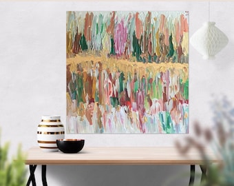 20 x 20 Textured Painting Canvas Wall Art - Abstract Art - Abstract Impasto Painting - Wedding Gift - Palette Knife Art -Textured Canvas