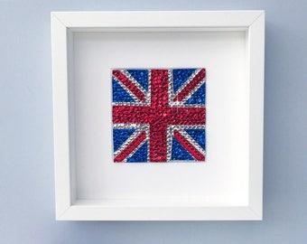 Union Jack picture, Union Jack wall art, British decor, London art, Union Jack flag, England, u.k