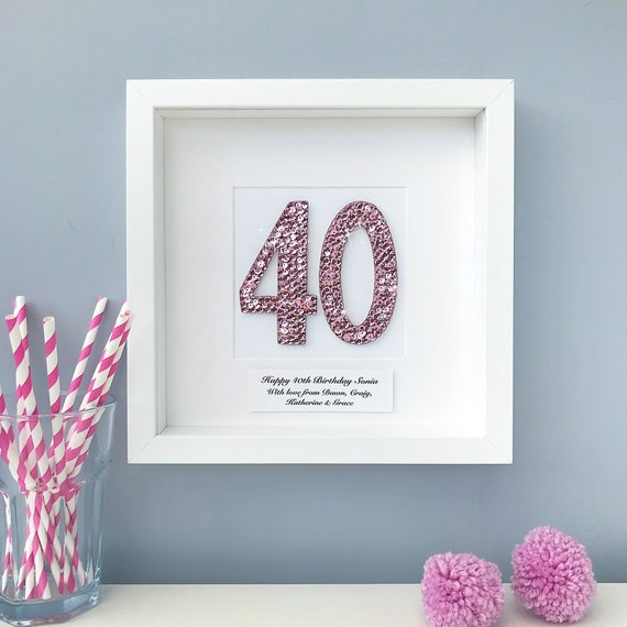 40th Birthday Gift Personalised Frame Special 40